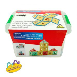 Magnetic Rods 68pcs - age +3 and +5