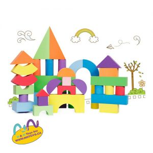Eva Foam Block 52Pcs - ages +3