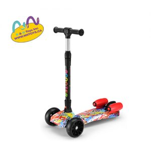 music style kids jet scoote With smoke, music and spray Foldable & Adjustable