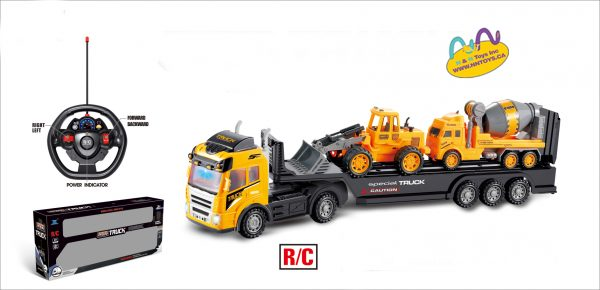 RC 4CH TRAILER WITH SIMULATION SOUND LIGHT+FORWARD/BACKWARD+STEERING SOUND